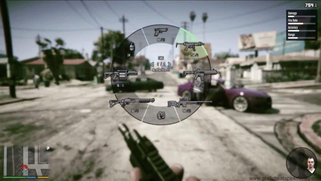 GTA 5-Cheats-Weapons