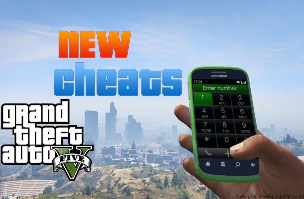 GTA 5 cheats phone