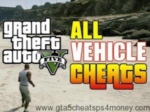 GTA 5 PS4 Cheats Cars